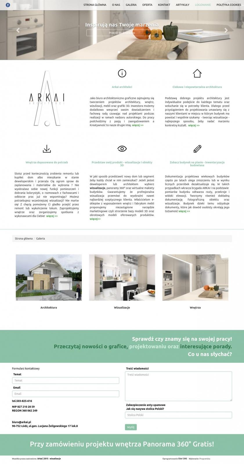 Strona www dla architektów